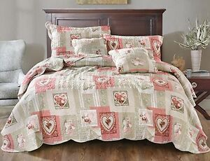 Tache Dainty Sweetheart Cottage Heart Valentine Patchwork Scalloped Bedspread