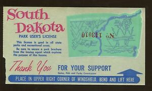 Sud de Dakota Jeu Poisson & Parcs Park L'Utilisateur Licence Fenêtre Autocollant