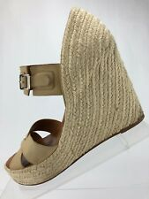 b54f170b4db0 Hunter Anegada Wedges Shoes - Cream Leather Casual Heels Dress Women s Size  7.5