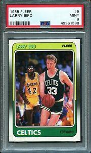 1988 FLEER LARRY BIRD #9 PSA 9 MINT HOF