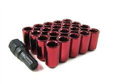 Sintonizzatore DADI delle ruote (20) per adattarsi MAZDA MX5 LEGA CERCHIONI RED M12x1.5 60 gr