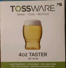 TOSSWARE POP Sampler Cups Plastic Shot Taster Glasses NEW