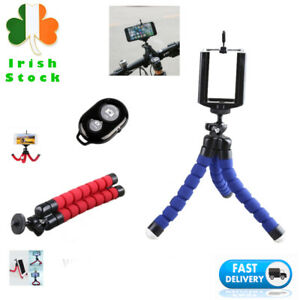 Phone Tripod with Bluetooth Remote Flexible Stand Mount iPhone Android Selfie