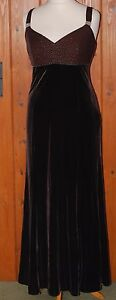 Kaliko, Ladies, Velvet, Brown, Special Occasion, Dress, Gown, size 14 (40)