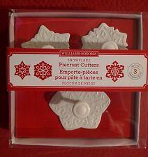 NIB~Williams-Sonoma Snowflake Piecrust Cutters ~ Set of 3