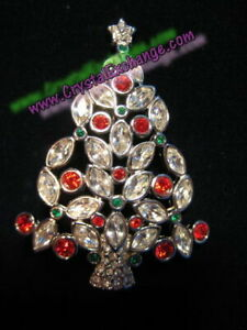 Swarovski 2002 Christmas Holiday Tree Brooch Pin - 1511433
