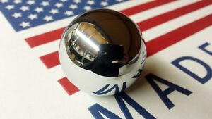 CHROME SHIFT KNOB BALL 3 4 5 SPEED 3/8 FOR HURST SHIFTER CAMARO MUSTANG CHEVELLE