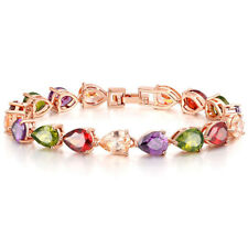 Party Friendship Jewelry Gift Chain For Women Colored Gemstone Topaz Bracelets