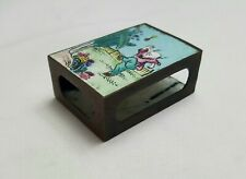 More details for antique chinese canton enamel on copper matchbox holder, decorated on both sides