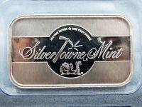 SilverTowne Rare Collectible Bar Unique Texture 1 Troy Oz .999 Fine Silver
