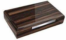 THE MACASSAE 150 ~ Lacquered Ebony Wood Humidor with Slotted Divider System