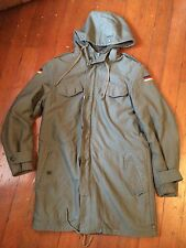 German Army Winter Jacket Military Germany Liner Convertable Long Small-Medium