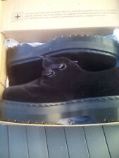 DR Martens Holly Black Velvet platform shoes UK 9.