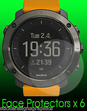SUUNTO TRAVERSE watch face protectors x 6 protection copper carbon slate silver
