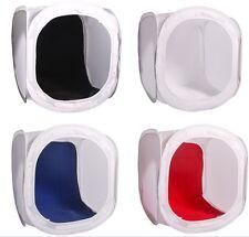 "Pro studio in a box 16"" pure white tent & black white blue red velvet backdrops"
