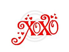 XOXO Hugs & Kisses Love Wall Art Vinyl Sticker Decal Red (#231)