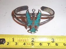 Sterling Silver - G&S Southwestern Thunderbird Slave Bracelet Tourquiose