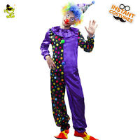 Adult Men  Circus Clown Costume Halloween Party Funny Clown Costumes