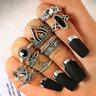 10 -er Set elf Ringe Fingerspitzen Ring Gliederring Fingerring Statement Vintage