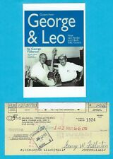 George Fullerton G&L Music Man '80 Autographed Signed Payroll Check & HP Photo