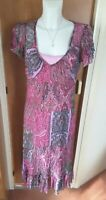 Marks and Spencer Per Una M&S Pink Double Layer Dress Size 16