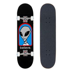 Bundle of 2 Items Alien Workshop Shelter Skateboard Deck 8.17 x 31.75 with Black Magic Black Griptape