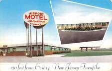 Port Newark New Jersey Airport Motel Multiview Vintage Postcard K50209