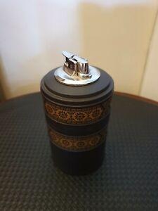 Wedgewood Lighter J664 England Black Jasperware with Gold design and Storage