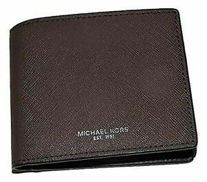 Michael Kors Men's Leather Tan Luggage Andy Bifold Passcase Wallet   $98