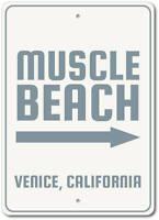 Muscle Beach Sign, Beach Arrow Sign, Custom Beach Decor ENSA1002941