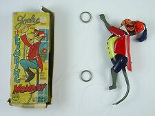 Vintage Linemar/Marx Jocko the Climbing Monkey Tinplate Litho Toy – Boxed