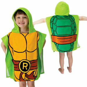 TMNT Raphael Hooded Poncho Towel Beach Pool Bath Kids Child Teenage Ninja Turtle