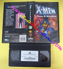 VHS film X-MEN La storia di wolverine 2004 animazione BUENA VISTA (F105) no dvd