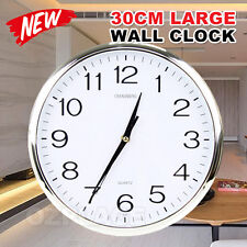 Wall Clock Quartz Round Wall Clock Silent Non Ticking Battery Operated 12 Inch