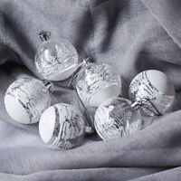 6/12pcs Christmas Clear Glass DIY Xmas Tree Hanging Baubles Ball Ornament 6/8cm