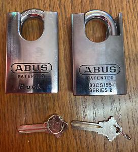 X2 Abus Rocks 83CS/55 Closed Shackle Padlocks Locksport Rock OB#3000 💪