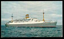 vintage Holland America ship SS Maasdam advertising Netherlands postcard
