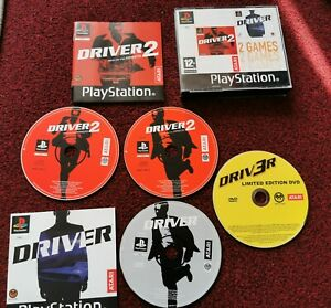Driver & Driver 2 Double Pack -  Sony Playstation 1 Game COMPLETE with bonus DVD