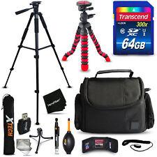 64GB Memory + Case + Tripod + More f/ Canon Powershot G3 X
