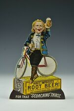 Victorian Trade Card Charles Hires Root Beer Stand Up