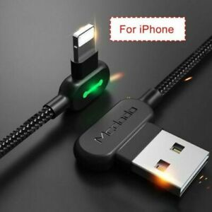 6ft Fast Charging Cable USB to iphone Charger L Shape Reversible Unbreakable