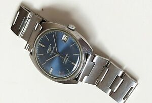 BEAUTIFUL LONGINES ADMIRAL AUTOMATIC S STEEL BLUE DIAL SWISS WATCH FROM 60S