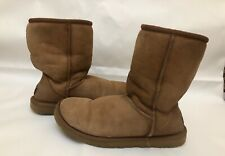 UGGS AUSTRALIA   Beige women winter snow leather wool boots size W6
