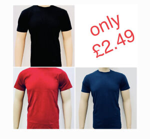 Men's Short Sleeve Classic plain T- Shirt /// cheap price