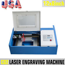 40W CO2 Laser Engraving Cutting Machine Engraver Cutter USB Port High Precise CE