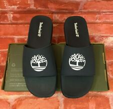 TIMBERLAND MEN'S FELLS SLIDE SANDALS NAVY WITH WHITE A1XAP SIZE 7, 8, 11
