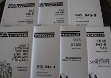 FIAT ALLIS 945 945B WHEEL LOADER REPAIR SERVICE WORKSHOP MANUAL FULL