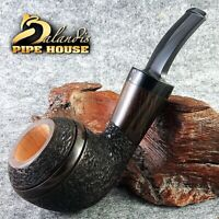 "Outstanding WOROBIEC Hand Made - Rustic & Waxed BRIAR smoking pipe ""BROWN DUKE"""
