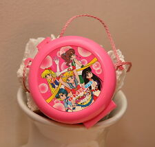 Sailor Moon pink heart locket necklace pink case perfume jewelry Japanese Japan