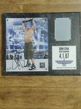 WWE/WWF JOHN CENA SIGNED WRESTLEMANIA 23 PLAQUE 75 of 500 RARE WITH C.O.A
